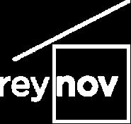 Logo blanc avec fond transparent de Reynov