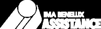 Logo blanc avec fond transparent de IMA Assistance