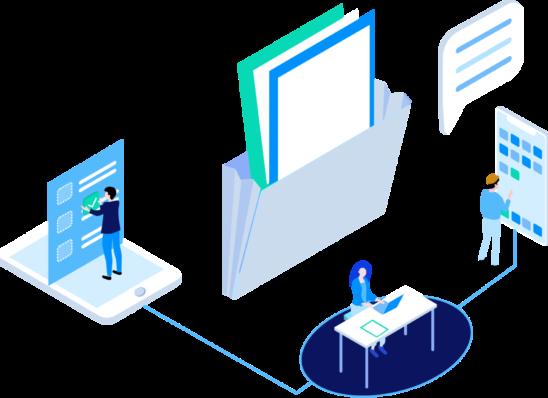 Illustration d'un logiciel collaboratif